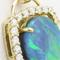 ブラックオパールのペンダントヘッドを製作。上質なメレダイヤを使用しました