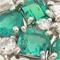 エメラルド、ダイヤモンドを使った幅広のリングを製作