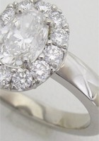 リフォーム制作したオーバルカットダイヤモンドのプラチナリング