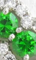 オーダーメイド制作したデマントイドガーネットとダイヤモンドの指輪