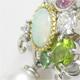 マルチカラーの色石、真珠を使ってブーケデザインのペンダントにリフォームいたしました。
