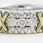 オーダーメイドでお造りした幅広エタニティータイプのダイヤの指輪