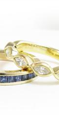 ダイヤモンドリングとサファイヤリング