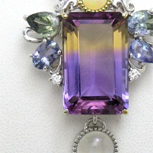 色石コレクションから選んで作るペンダントのイメージ