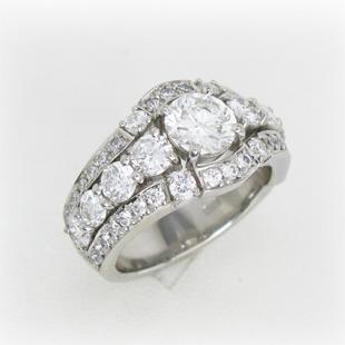ダイヤの指輪5本から作ったボリュームリングのイメージ