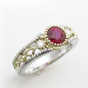 還暦記念の赤い指輪、ルビーリングのイメージ