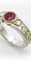還暦記念のルビーリングをオーダーメイド、赤い石の指輪の口コミ