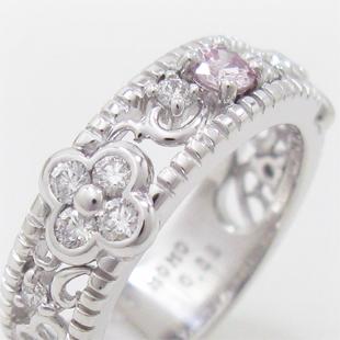 【最新の作品】ピンクダイヤモンドの幅広リングのイメージ
