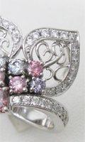 カラーダイヤのボリュームリング。ネックレスから指輪へリフォーム