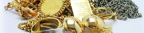 ジュエリーリフォームで宝石を外した後の、ゴールドやプラチナの地金