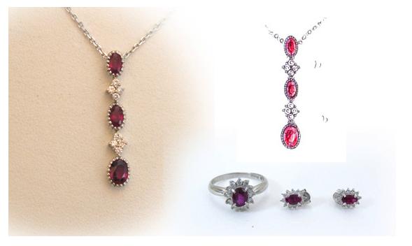 ルビーとダイヤモンドのペンダントのリフォーム