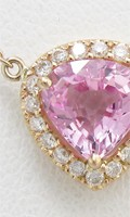 ピンクサファイアとメレダイヤの可愛いオーダーメイドペンダント