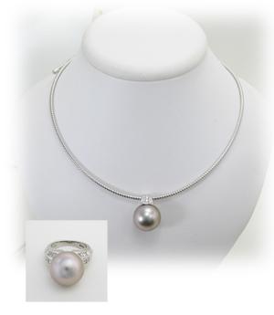 真珠のペンダントへリフォーム画像