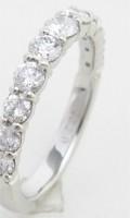 ジュエリーリフォームで作ったダイヤモンドのハーフエタニティリング