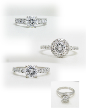 婚約指輪を華やかにリフォーム画像