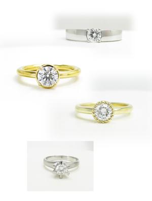 シンプル、かわいいダイヤモンドの指輪画像