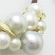 いろいろな色や形の真珠でペンダントを製作。オメガタイプネックレス用。