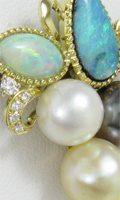 複数のジュエリーからリフォーム。オパール・真珠・サファイアのペンダント
